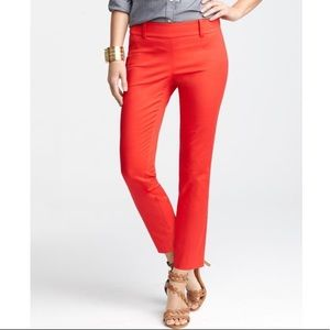 Ann Taylor Cropped Pants in Red